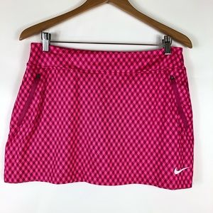 Nike Golf Gingham Performance Skort Mini Skirt Med